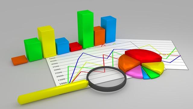 報告、レポート、グラフ