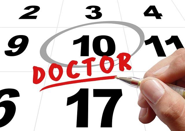 医師、スケジュール、カレンダー、ボールペン