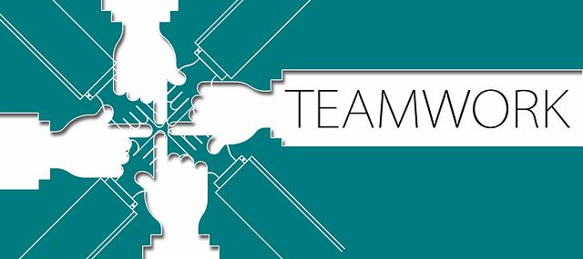 チームワーク、連携、つながり