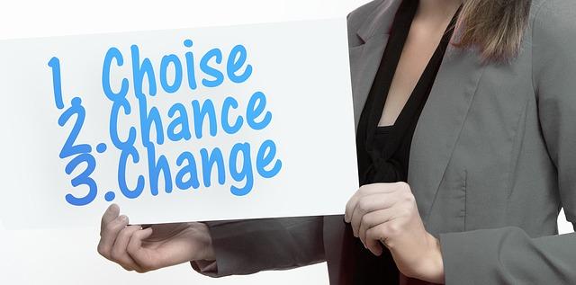 選択、チャンス、チェンジ、女性