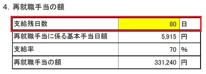 失業保険・再就職手当算出表(条件入力)5