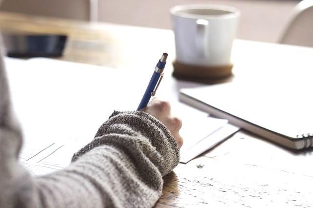 書類を書く、年末調整、配偶者控除等申告書