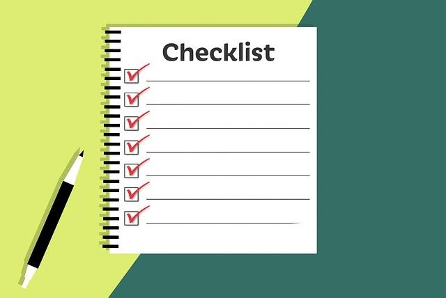 チェックリスト、ペン