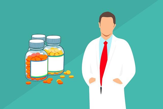 薬剤師、薬、イラスト