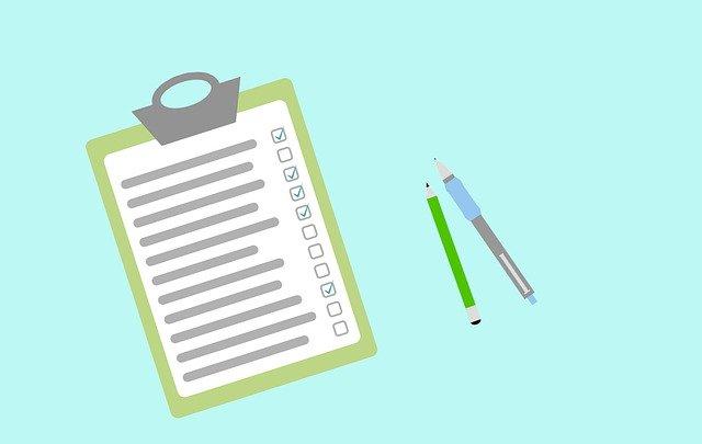 テスト、試験、マークシート、チェックリスト