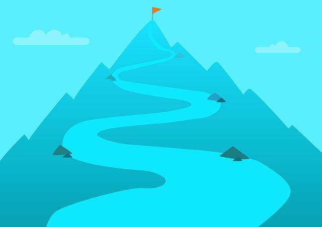 目標、山登り、目的